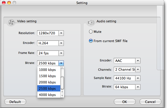 SWF to MOV Converter for Mac Screenshots 2