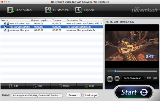 Screenshot mac video to flash converter